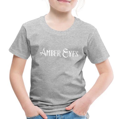 AMBER EYES LOGO IN WHITE - Toddler Premium T-Shirt