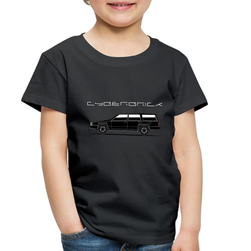 Cyberbrick Future Electric Wagon Black Outlines - Toddler Premium T-Shirt