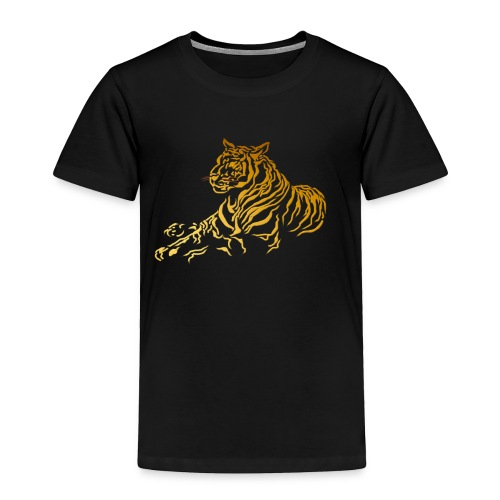 Gold Tiger - Toddler Premium T-Shirt