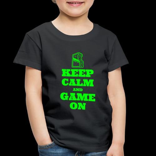 Keep Calm and Game On | Retro Gamer Arcade - Toddler Premium T-Shirt