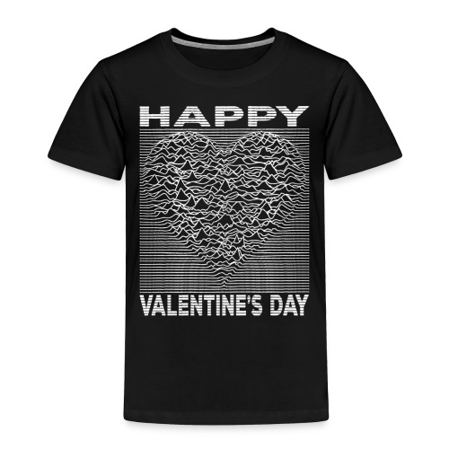 Love Lines Happy Valentines Day Heart - Toddler Premium T-Shirt