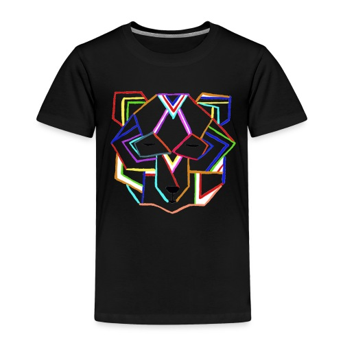 art deco bear face - Toddler Premium T-Shirt