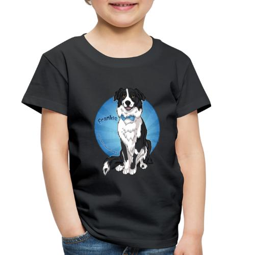 Border Collie Frankie Full Colour With Name - Toddler Premium T-Shirt