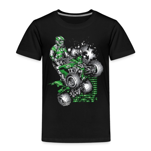 Yamaha ATV Grunge Quad - Toddler Premium T-Shirt