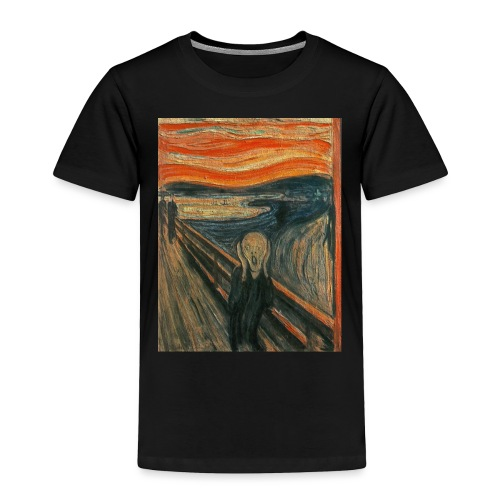 The Scream (Textured) by Edvard Munch - Toddler Premium T-Shirt