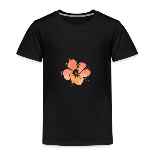 Hibiscus Watercolor Design - Toddler Premium T-Shirt