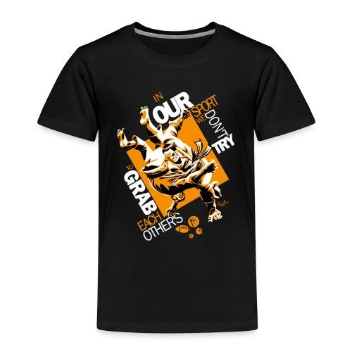 Judo Grab Design for dark shirts - Toddler Premium T-Shirt