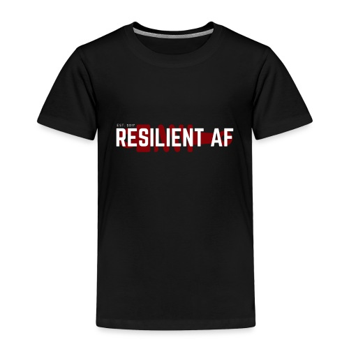 RESILIENT WHITE with red - Toddler Premium T-Shirt