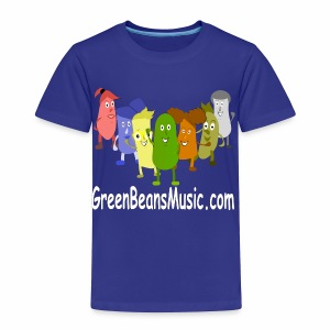 Green Bean's Music Apparel White Logo - Toddler Premium T-Shirt