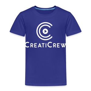 CreatiCrew Logo w/ Text (White) - Toddler Premium T-Shirt
