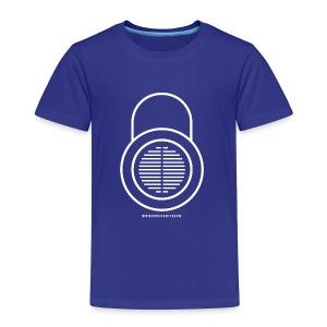 Knocksmith Green Lock Logo White - Toddler Premium T-Shirt