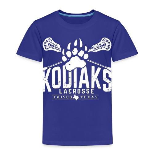 Kodiaks Lacrosse 2018 white - Toddler Premium T-Shirt