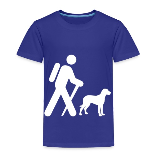 Hiking Man & Dog - Toddler Premium T-Shirt