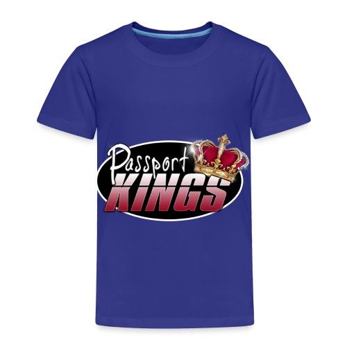 Passport Kings logo for dark shirts - Toddler Premium T-Shirt