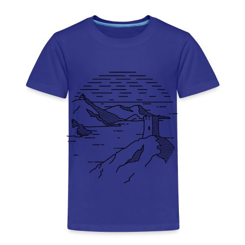 Line landscape - Sea - Toddler Premium T-Shirt