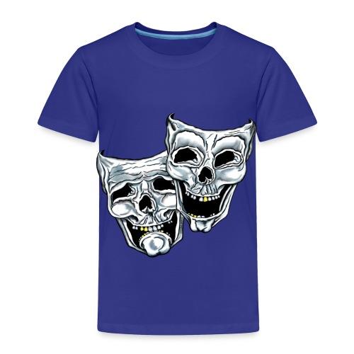 COMEDY TRAGEDY SKULLS - Toddler Premium T-Shirt