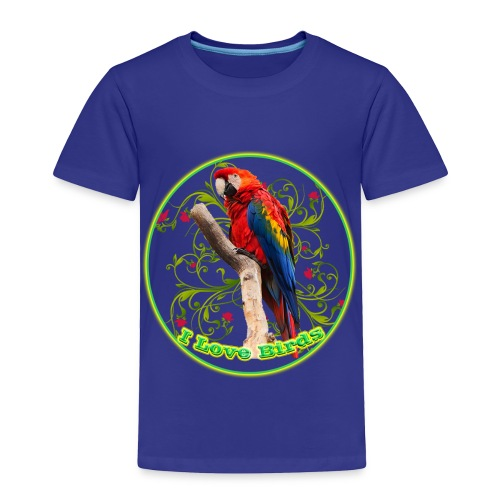 I Love Birds - Cool - Toddler Premium T-Shirt
