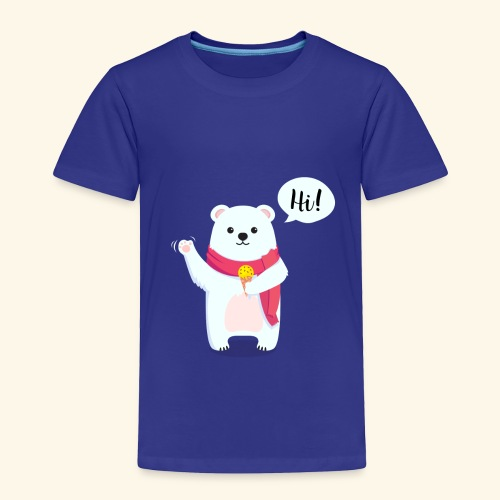 Adorable Bear - Toddler Premium T-Shirt