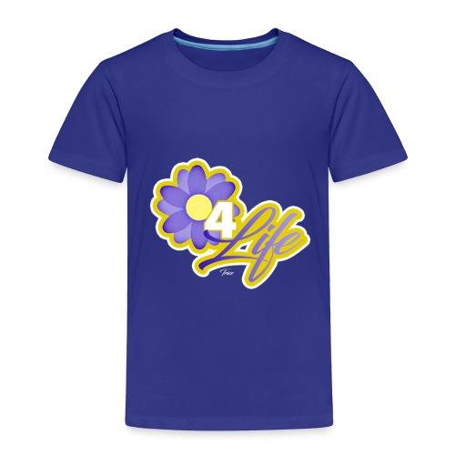 purp flowersss - Toddler Premium T-Shirt