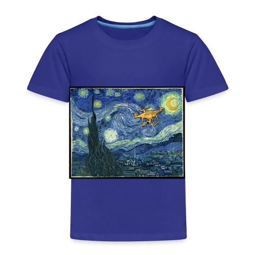 Starry Night Drone - Toddler Premium T-Shirt