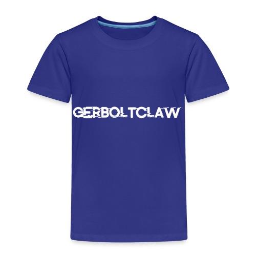 White Gerboltclaw LOGO - Toddler Premium T-Shirt