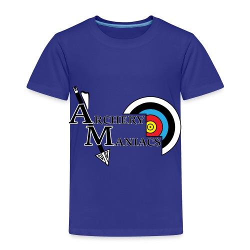 Archery Maniacs White Outline - Toddler Premium T-Shirt