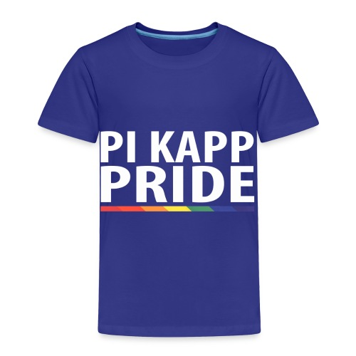 PKPride Stacked Design w Rainbow Stripe White Tex - Toddler Premium T-Shirt