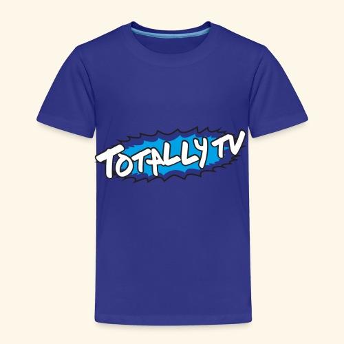 Totally TV Burst Logo Blue on Blue - Toddler Premium T-Shirt