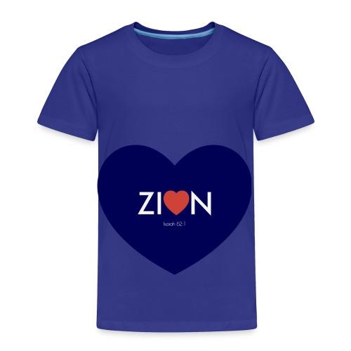 Zion in my heart/ I Won't Keep Silent - Toddler Premium T-Shirt
