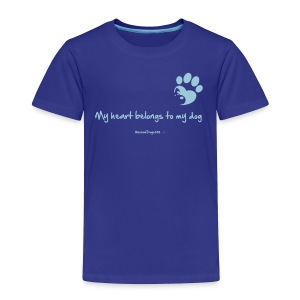 RescueDogs101 My heart belongs to my dog - Toddler Premium T-Shirt