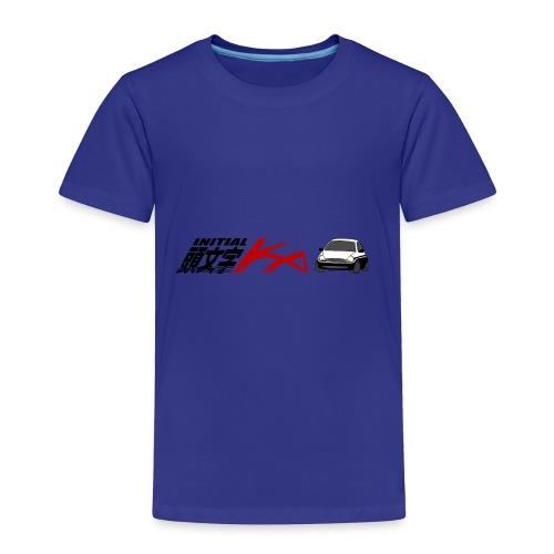 Initial Ka (Black writing) - Initial D parody - Toddler Premium T-Shirt