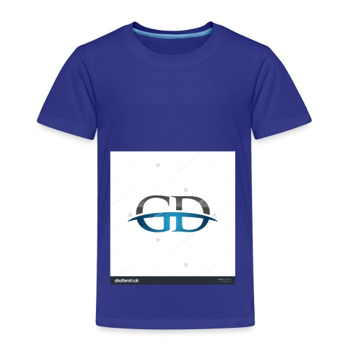 stock vector gd initial company blue swoosh logo 3 - Toddler Premium T-Shirt
