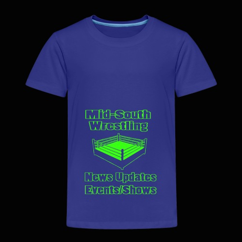 Mid-South Wrestling News Neon/Lime Green - Toddler Premium T-Shirt