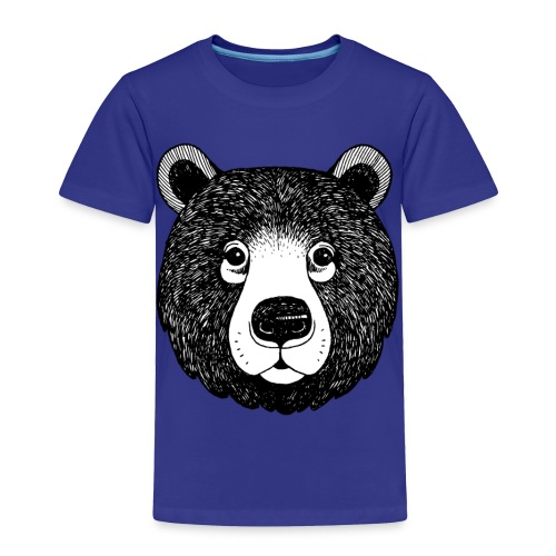 The head of bear - Toddler Premium T-Shirt