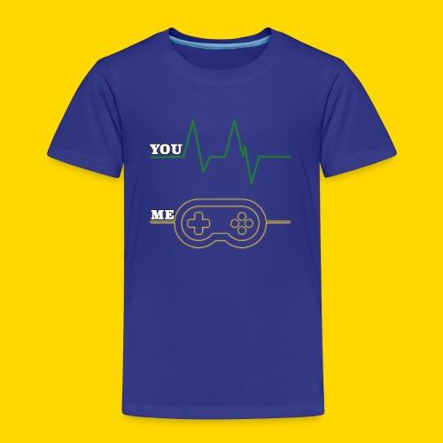 Gamer Heart beat - Toddler Premium T-Shirt