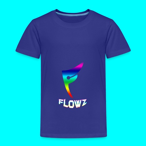 Multi-Colour Flowz Logo With Text - Toddler Premium T-Shirt
