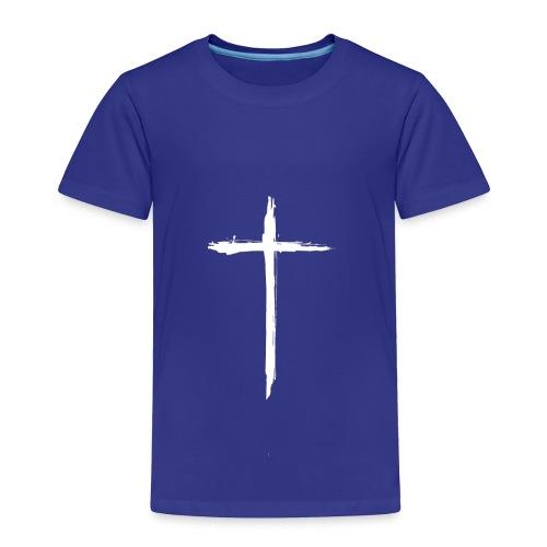 White Cross for Back of Shirt - Toddler Premium T-Shirt