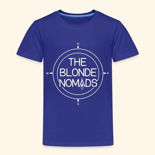 The Blonde Nomads logo WHITE - Toddler Premium T-Shirt