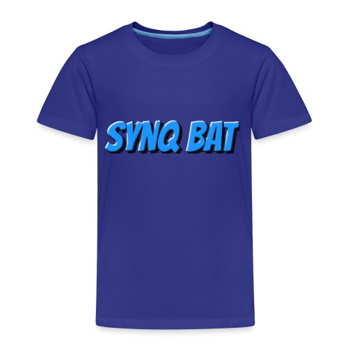 SynQ Bat - Cartoon Logo - Toddler Premium T-Shirt