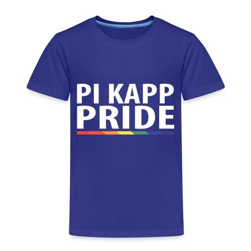 PKPride Stacked Design w Rainbow Stripe White Tex - Toddler Premium T-Shirt