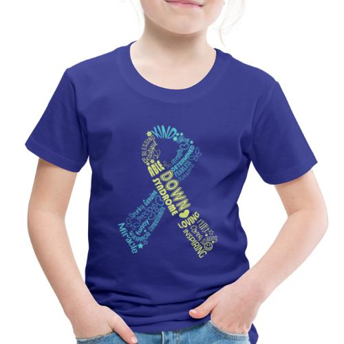 Down syndrome Ribbon Wordle - Toddler Premium T-Shirt