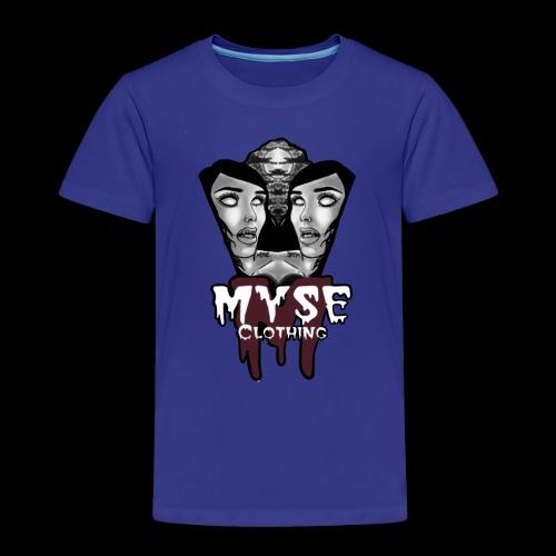 Myse clothing logo with vampire - Toddler Premium T-Shirt