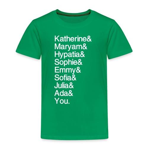 Women in Math (& You!) - Toddler Premium T-Shirt