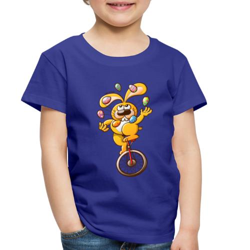 Easter Bunny Juggling Eggs - Toddler Premium T-Shirt