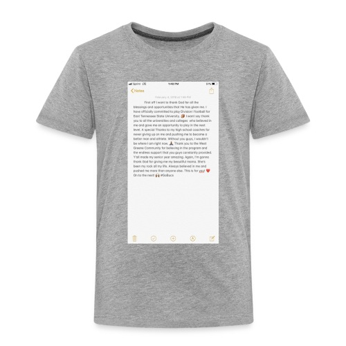 Text from a Football Commit - Toddler Premium T-Shirt