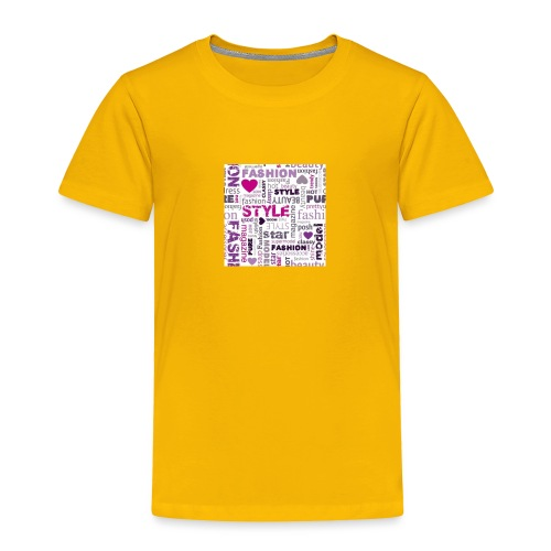 fashion word collage - Toddler Premium T-Shirt