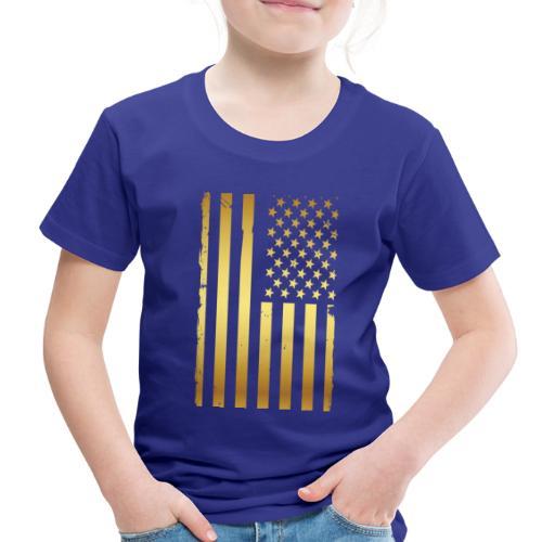 Golden american flag - Toddler Premium T-Shirt