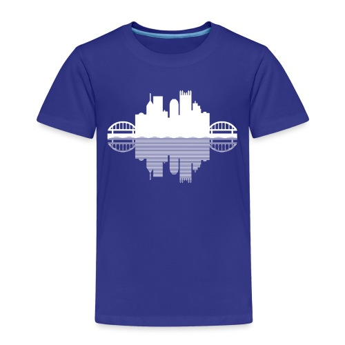 Pittsburgh Skyline Reflection - Toddler Premium T-Shirt
