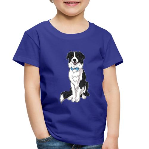 Border Collie Frankie - Transparent Background - Toddler Premium T-Shirt