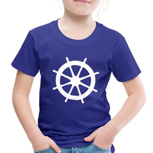 Steering Wheel Sailor Sailing Boating Yachting - Toddler Premium T-Shirt